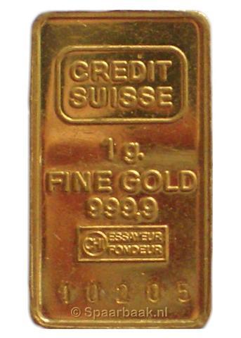 1 gram goud [Foto: Spaarbaak.nl]