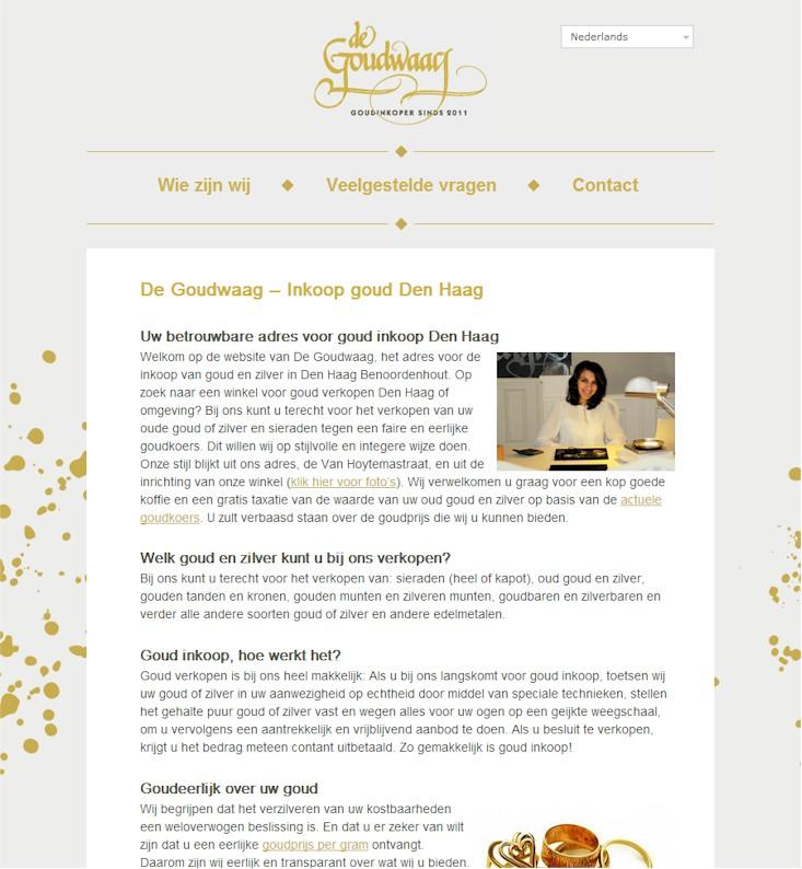 Goud verkopen in de praktijk: website